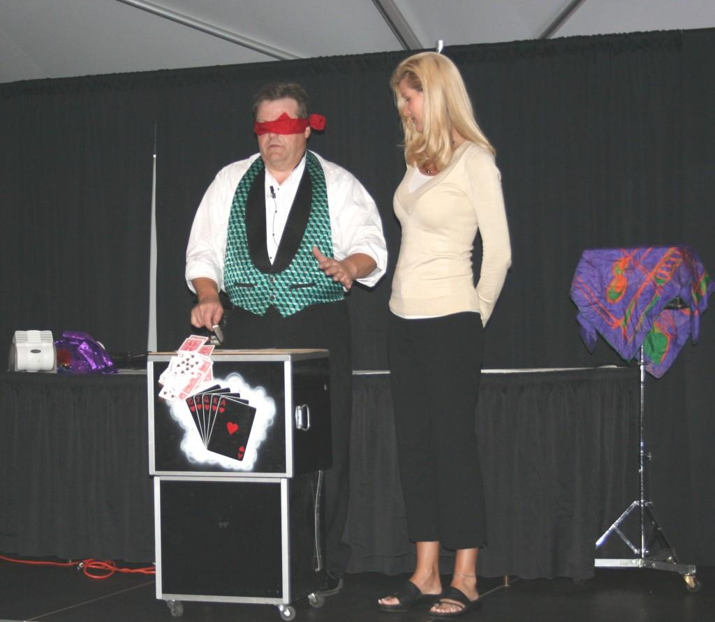 Blindfold trick